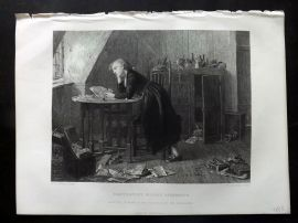After Morris 1875 Art Journal Print. Chatterton's Holiday Afternoon
